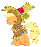 Applejack scarecrow costume by punchingshark