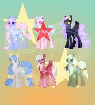 Pony Adoptables #2 Re-Opened!!! by Voslin