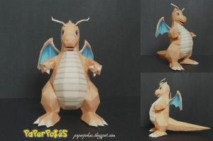 Pokemon Papercraft-Dragonite by PaperBuff