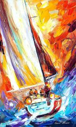 Fight With The Wind by Leonid Afremov by Leonidafremov