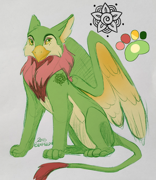 Gryphon for Auction! [CLOSED] by Blumalou
