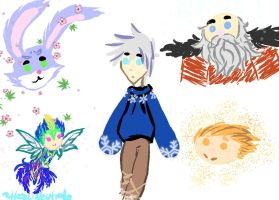 Rise of the Guardians chibis by HezuNeutral