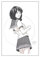 School Girl - Sketch by MichaelCrichlow