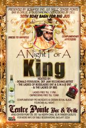 a night for a king flyer by mochadevil83