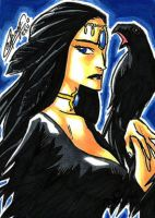 The Morrigan Sketch Card  Remy Mokhtar by Pernastudios