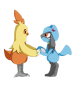 Riolu and Combusken