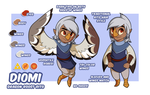 Character Sheet - Diomi. by TheOutli3R