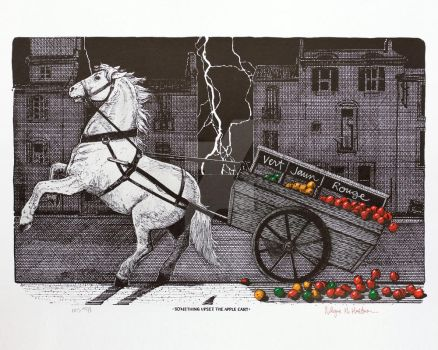 Something Upset the Apple Cart - 1998 by WayneHuebner