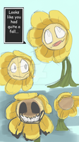 Flowey Sketches by SpiderWolfArts