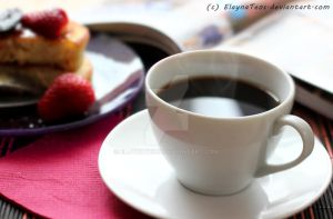 coffee and fritter by ElaynaTeos