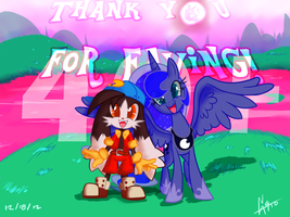Klonoa and Luna CROSSOVER 40+ faves Special! by Great9Star