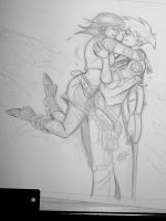 Reunion - Pencil Sketch 1 by OilCanDrive