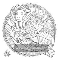 Golden Lion Tamarin (The Exotic Colouring Book) by megcowley