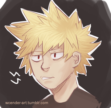 spiky haired Disaster by wcender