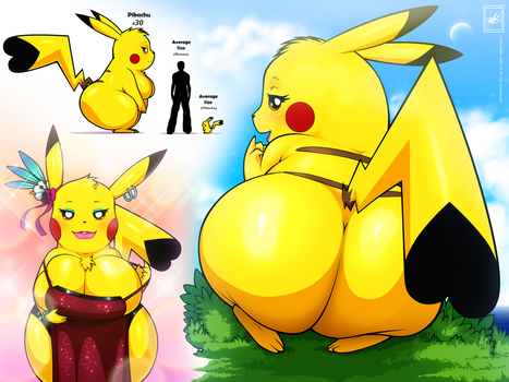 Bigger Pikachu_complete by wsache2020