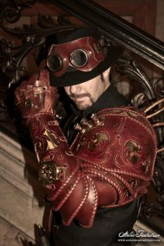 Insectarium steampunk armor -4 by AtelierFantastique