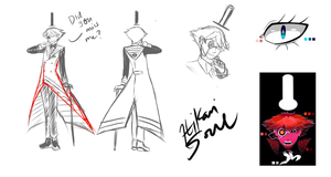 New Bill Cipher Character design sheet (Sketch) by Hikarisoul2