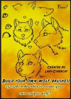 Wolf Clipart Photoshop Brushes by lady-cybercat
