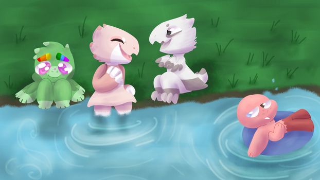 Chilling out by Jade-Slowpoke