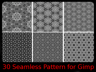 S/W seamless Pattern for Gimp by thobar
