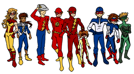 Flash Family Chibis by elfgrove