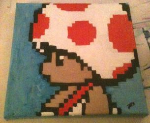 Toad Pixel Painting by Crausse