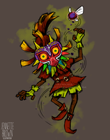 Skull Kid - Majora's Mask by sugarpoultry