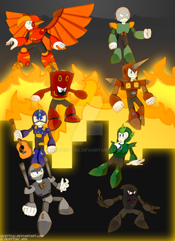 Group 10 Robot Masters [DON-073 - DON-80] ~ Poster