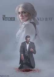 The Witcher - Noir - Wild Hunt by MilliganVick