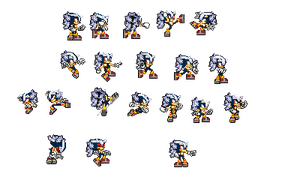 Sonic Fase 4 SSXU (SPRITE SHEET PREVIEW) by ShadicCZ
