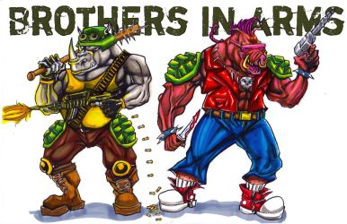 Bebop and Rocksteady. by BobbyJackWright