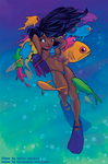 Scuba Girl color by thundercake