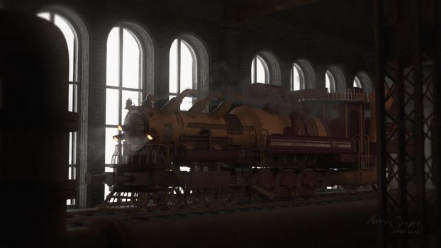 Steampunk Train by HannesDreyer