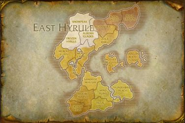 East Hyrule Map V.2 by TheRabidArtist