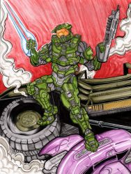 Masterchief Watercolor by The-Standard