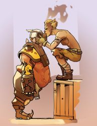 Junkrat and Roadhog by ImagineTheEnding