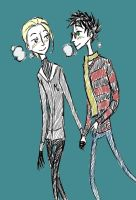 Tim Burtonesque Drarry by YaoiLoverSama