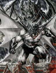 Batman on a gargoyle by ebas