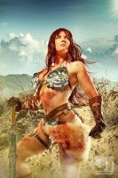 Red Sonja in the Desert by jaytablante