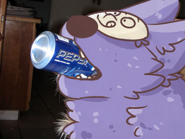 funny dog eat a pepsi by ferretpop