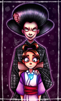 Ace Attorney - Mother and daughter by MereldenWinter