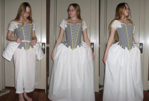 1750 PocketHoops and Petticoat by Verdaera