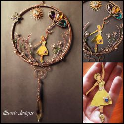 Fields of Joy suncatcher by illustrisdesigns