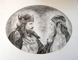 Aragorn and Arwen... by Artsy50
