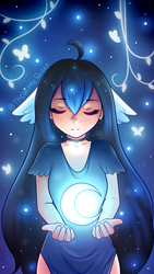 The Moon by TheWittleSheep