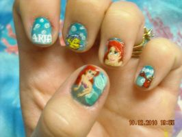 Little Mermaid Nails by artsynails