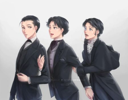Holmes, Raffles and Lupin by Mincelot
