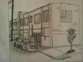 Intro to 2D Exam: Part II: 1ptPerspective Building by IamKoji
