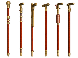 Steampuunk Canes PNG Stock by Roy3D