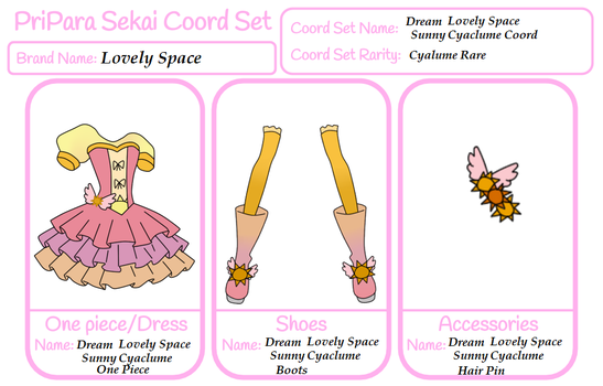 PPS Lovely space Coord: DLS Sunny Cyalume Coord by xMagical-Ichigo-Tanx